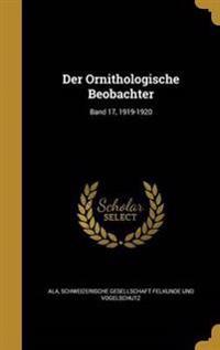 GER-ORNITHOLOGISCHE BEOBACHTER