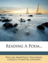 Reading A Poem...