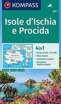 Kompass Wanderkarte Isole D Ischia E Procida 1 50 000 Kirjat