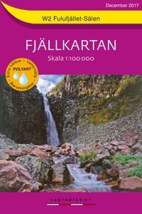 W2 Fulufjället-Sälen Fjällkartan : Skala 1:100 000