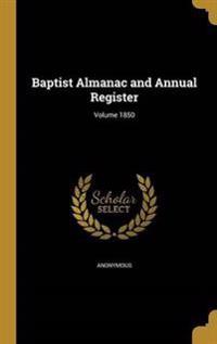 BAPTIST ALMANAC & ANNUAL REGIS