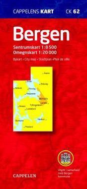 Bergen Cappelen CK62 stadskarta : 1:8500-1:20000