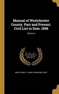 MANUAL OF WESTCHESTER COUNTY P