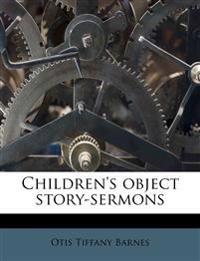 Children's object story-sermons