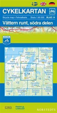 Cykelkartan Blad 14 Vättern runt, södra delen : 1:90000