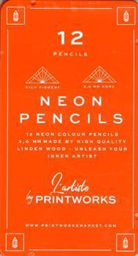 12 färgpennor i neon