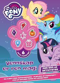 Vennskap er ren magi. My Little Pony. Aktivitetsbok med 6 søte viskelær