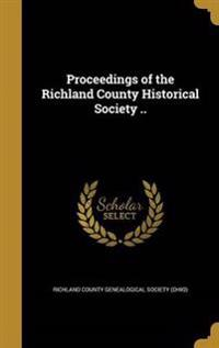 PROCEEDINGS OF THE RICHLAND CO