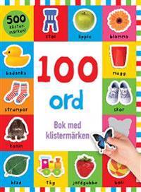 100 ord : bok med klistermärken