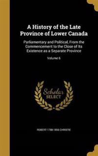HIST OF THE LATE PROVINCE OF L