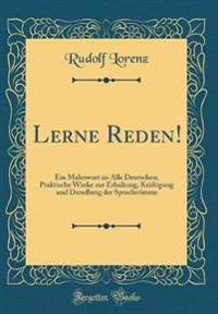 Lerne Reden!