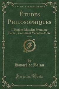 Études Philosophiques, Vol. 15