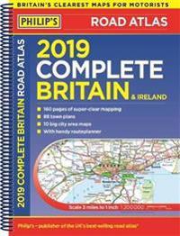 Philip's 2019 Complete Road Atlas Britain and Ireland - Spiral