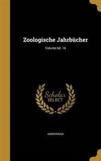 ZOOLOGISCHE JAHRBUCHER VOLUME
