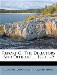 Report Of The Directors And Officers ..., Issue 49