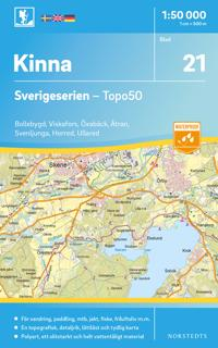 21 Kinna Sverigeserien Topo50 : Skala 1:50 000