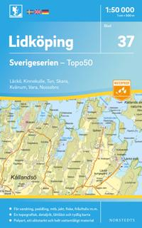 37 Lidköping Sverigeserien Topo50 : Skala 1:50 000