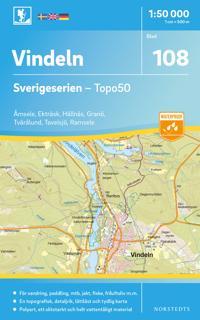 108 Vindeln Sverigeserien Topo50 : Skala 1:50 000