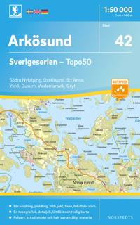 42 Arkösund Sverigeserien Topo50 : Skala 1:50 000