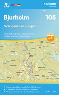 105 Bjurholm Sverigeserien Topo50 : Skala 1:50 000