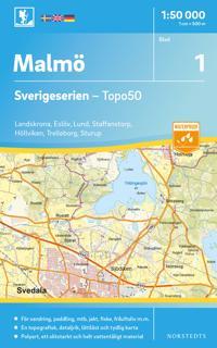 1 Malmö Sverigeserien Topo50 : Skala 1:50 000