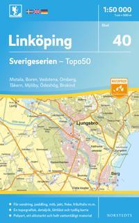 40 Linköping Sverigeserien Topo50 : Skala 1:50 000