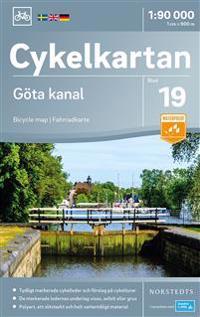 Cykelkartan Blad 19 Gota Kanal Skala 1 90 000 Reise Veikart