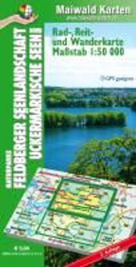 Maiwald Karte Feldberger Seenlandschaft Nord, Uckermärkische Seen Rad-, Reit- und Wanderkarte 1:50.000