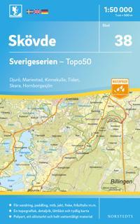 38 Skövde Sverigeserien Topo50 : Skala 1:50 000