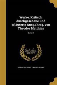 GER-WERKE KRITISCH DURCHGESEHE