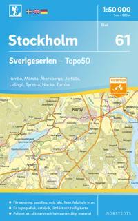 61 Stockholm Sverigeserien Topo50 : Skala 1:50 000