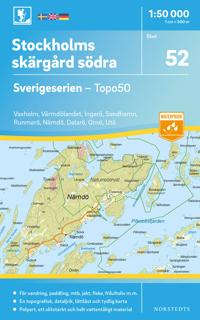 52 Stockholms skärgård södra Sverigeserien Topo50 : Skala 1:50 000