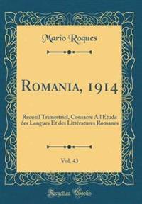 Romania, 1914, Vol. 43