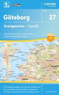 27 Göteborg Sverigeserien Topo50 : Skala 1:50 000