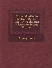 Three Months In Ireland. By An English Protestant - Primary Source Edition