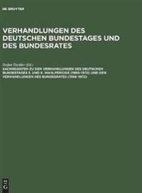 Sachregister Zu Den Verhandlungen Des Deutschen Bundestages