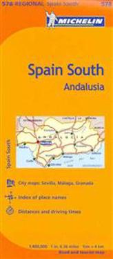 Michelin Spain: Andalucia Map 578
