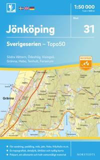 31 Jönköping Sverigeserien Topo50 : Skala 1:50 000