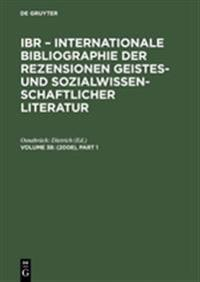 International Bibliography of Book Reviews of Scholarly Literature in the Humanities and Social Sciences 2008