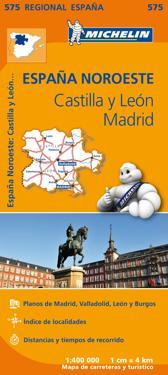 Castilla y Leon Madrid Michelin 575 delkarta Span. : 1:400000