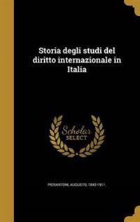 ITA-STORIA DEGLI STUDI DEL DIR