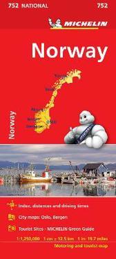 Karta Syd Norge.Norge Michelin 752 Karta 1 1 25milj Bocker 9782067172784