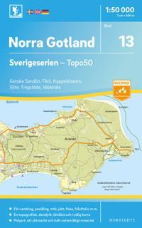 13 Norra Gotland Sverigeserien Topo50 : Skala 1:50 000 -  pdf epub