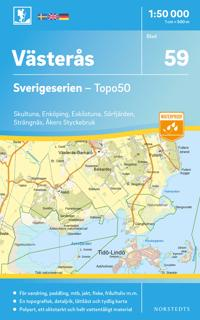 59 Västerås Sverigeserien Topo50 : Skala 1:50 000