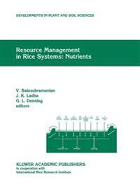 Resource Management in Rice Systems: Nutrients