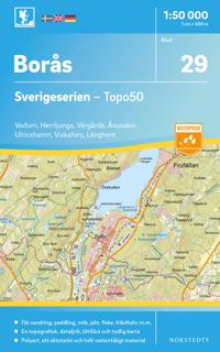 29 Borås Sverigeserien Topo50 : Skala 1:50 000