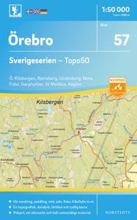 57 Örebro Sverigeserien Topo50 : Skala 1:50 000