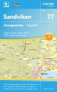 Karta Sverige Hojdkurvor.650 Sandviken Terrangkartan 1 50000 Bocker 9789158806504