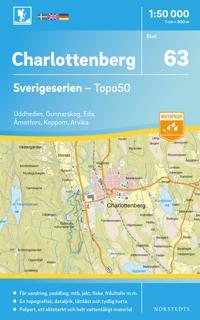 63 Charlottenberg Sverigeserien Topo50 Skala 1 50 000 Kart