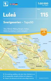 115 Luleå Sverigeserien Topo50 : Skala 1:50 000